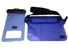 Blue Splash Premium Waterproof Bag Set: Waterproof Waist Pouch + Universal Waterproof Phone Bag - Protect Your Phone Cash & Valuables From Water for Fishing Hunting Hiking Snorkeling Camping Waterproof Phone, Waist Pouch, Camping And Hiking, Hiking Backpack, Snorkeling, Backpacks, Wallet, Hunting, Fishing