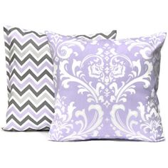 Lilac Pair of Decorative Throw Pillow Covers Lavender Grey Zoom Zig... ($15) ❤ liked on Polyvore featuring home, home decor, throw pillows, decorative pillows, home & living, home décor, silver, grey chevron throw pillow, gray accent pillows and grey throw pillows