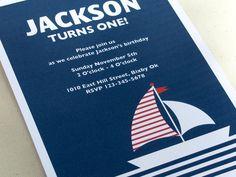 Nautical Invitation - Birthday Invitation