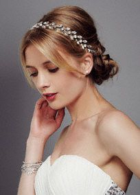 Marquis Clear Stone Head Wrap, Style HW1275 #davidsbridal #bridalbeauty #weddinghair