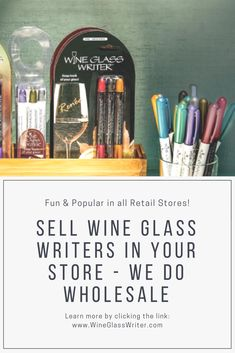 Wine Glass Writers bring a new and fun energy to all types of retail stores. From hundreds of family-owned shops and hardware stores to international megastore chains, our customers love selling our products just as much as they love using them!  Would Wine Glass Writers be a good fit for your business?Find out here:https://www.wineglasswriter.com/wholesale?utm_content=bufferd85a5&utm_medium=social&utm_source=pinterest.com&utm_campaign=buffer  #wineglasswriter #wine #wineglass #organize…
