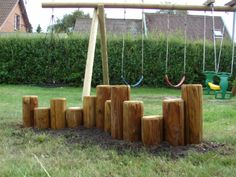 Det her fungerer også ret godt Swiss Family Robinson, Garden Inspiration, Playground Kids, Outdoor Living, Projects To Try, Home And Garden, House Design, Playgrounds, Hygge
