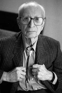 Claude Lévi-Strauss (1908-2009) - French Emigrant anthropologist and ethnologist. Photo © Despatin & Gobeli, 1993