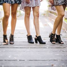 We love our #stylish black booties! Which one is your fave? 1, 2, 3? (Left to right) #FEgirl #fashionista #shoes #sandals #blackheels #heels #booties #fun #style #backtoschool #trends #trendy // ForElyse.com