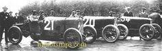 A.L.F.A. 20-30 ES Sport - Targa Florio 1921 , #21 Ugo Sivocci , #20 Enzo Ferrari .. car #34 is a 40-60HP of Giuseppe Campari