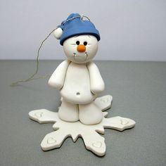 *POLYMER CLAY ~ snowbaby blue hat by Clayin' Around, via Flickr