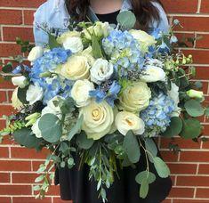 Light Blue Flowers, Blue Wedding Flowers, Turquoise Flowers, Flower Lights, Wedding Colors, Hydrangea Boutonniere, Blue Boutonniere, Wholesale Flowers Online, Wholesale Florist