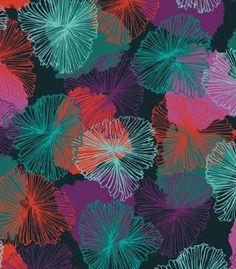 dark flowery pattern