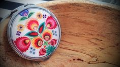 colorful pocket mirror..folklore pattern