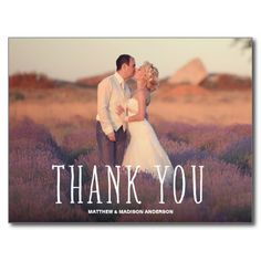 CUTEST THANKS | WEDDING THANK YOU POST CARD