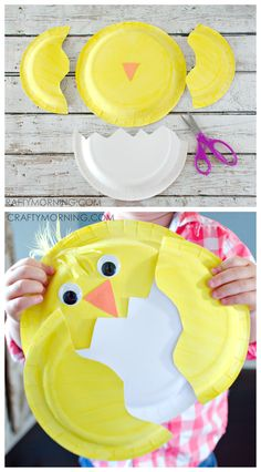Paper Plate Chick Craft - Fun easter craft for kids to make!