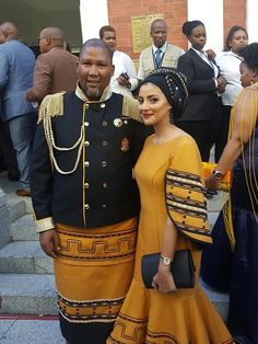 The new elected President of South Africa, Cyril Ramaphosa delivered his first State Of the Nation Address (SONA) on Friday evening in Cape Town. We look at the pictures from the red carpet. African Wear, African Dress, Xhosa Attire, Traditional African Clothing, African Fashion Dresses, African Prints, Couple Goals, Ankara, Beauty Women