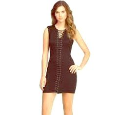 Bebe Black Lace Up Dress Small bebe dress! Great for all occasions. It has a nice stretch to it. NWT!! bebe Dresses