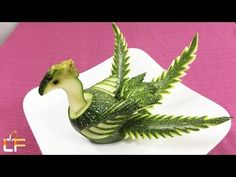 How to Make Apple Swan Garnish - Fruit Carving Video For Beginners - YouTube