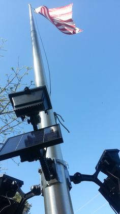 flag pole flood lights