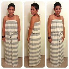 mimi g.: strapless Maxi Dress TUTORIAL!!!