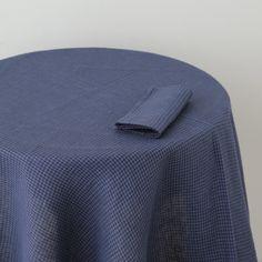 Shop Fog Linen U2014 Tablecloth: Blue Navy Check