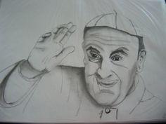 Papa Francisco - Tinta da China e grafite