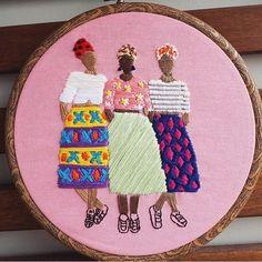 """2,000 likerklikk, 22 kommentarer – Embroidery World (@_mylittleneedle_) på Instagram: """"@_mylittleneedle_ . . . Cr: @thehoopdesign #mylittleneedle #embroidery #embroideryworld #handmade…"""""""