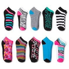 Modern Heritage™ Women's Fashion Socks 10-Pack - Black One Size