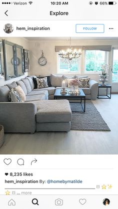 The Best 2019 Interior Design Trends - Interior Design Ideas Living Dining Room, Home Living Room, Apartment Decor, Living Room Decor Apartment, Home, Apartment Living Room, Pinterest Living Room, Living Room Grey, Dream Living Rooms