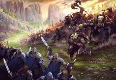 Orc battle by DerkVenneman