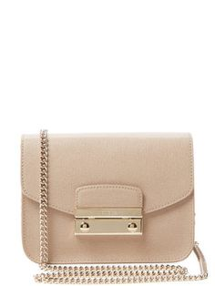 Furla Julia Mini Studded Saffiano Leather Crossbody