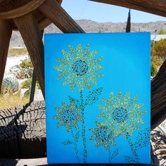 Sunflower Decor Nursery Art Hand Painted 8x10 by Mae2Designs