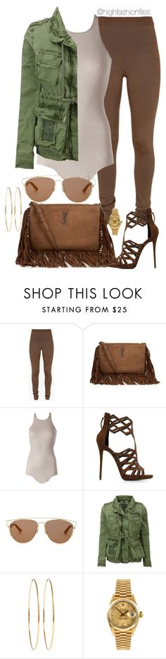 """Neutral"" by highfashionfiles ❤ liked on Polyvore featuring Balmain, Yves Saint Laurent, Rick Owens, Giuseppe Zanotti, Christian Dior, Superdry, Jennifer Meyer Jewelry and Rolex"