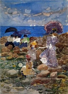Low Tide - Maurice Prendergast was an American Post-Impressionist artist who worked in oil, watercolor, and monotype.
