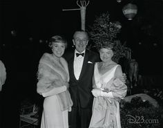 A wonderful clear version of the photo from the night of the premiere of Mary Poppins in August 1964, showing Walt with Julie Andrews and P.L. Travers. Courtesy of D23.