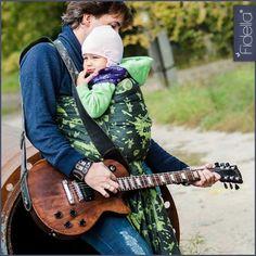 Fidella Babywrap -Rock n Rolla -green splash-