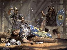 """Auxiliary skirmishers, Second Dacian War, c. 105 AD"", Angus McBride"