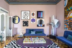 〚 Colorful eclectic interiors of old palazzo in Brescia, Italy 〛 ◾ Photos ◾ Ideas ◾ Design #livingroom #colorful #classic #modern #interiordesign #homedecor #ideas #inspiration #tips #cozy #living #style #space #interior #decor Interior Architecture, Interior Design, Mind Relaxation, Apartment Renovation, Parisian Apartment, Minimalist Design, Palazzo, Contemporary Design, Living Room
