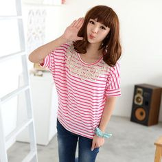 Buy '59 Seconds – Crochet Panel Striped T-Shirt' with Free International Shipping at YesStyle.com. Browse and shop for thousands of Asian fashion items from Hong Kong and more!