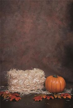 Abstract Texture Haystack Halloween Photo Backdrops - custom size please ask price