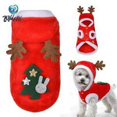Dog Christmas Clothes Costume Winter Dog Cat Coat For Small Dogs Cats Chihuahua Yorkshire Terrier Pet Clothes Ropa para perro Dog Christmas Clothes, Christmas Costumes, Christmas Stockings, Christmas Animals, Winter Christmas, Christmas Tree, Yorkshire Terrier, Cute Coats, Pet Paws