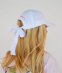 Seersucker Logo Bow Cap from Lauren James Co. I'm gonna need one of these!!!!