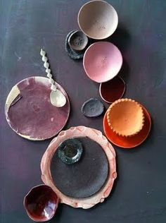 dietlind wolf ceramics. I love this raw aesthetic. Nice colors: greys, pinks, reds, whites and really nice textures.