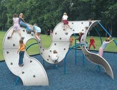 12-Panel Mobius Climber - Largest Climbing Wall system with 12 Curved Panels - Landscape Structures