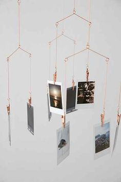 Copper Photo Holder Mobile - Urban Outfitters -- $14 #UOoncampus #UOContest