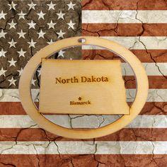 Beautifully Handcrafted North Dakota Christmas Ornament! Personalized Free!