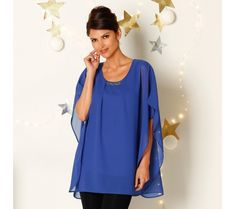 Blúzka s motýlimi rukávmi+všitý top Tunic Tops, Women, Fashion, Tunics, Moda, Women's, Fasion, Trendy Fashion, La Mode
