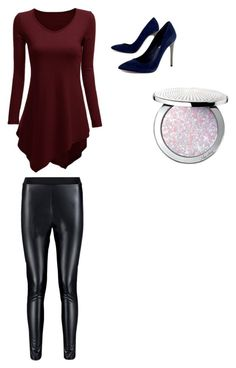 """""""Burgundy Joy"""" by kylamckay1210 on Polyvore featuring BCBGMAXAZRIA, Guerlain, women's clothing, women, female, woman, misses and juniors"""