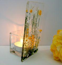 Glass Votive Candle Holders, Glass Tea Light Holders, Votive Candles, Surf Decor, Curved Glass, Tea Lights, Glass Lanterns, Daisy, Glow