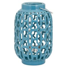 Imax - 11.5 Large Reflective Ceramic Lantern