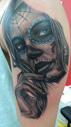 Day of the Dead tattoo, Gene Martin, New Plymouth , New Zealand tattoo