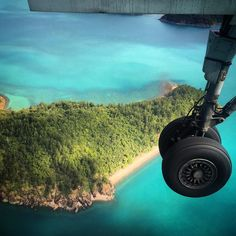 Landing in #hamiltonisland ... What lovely #turquoisewater ! #paradisefound #codingawayin #australia #codeaways #travel #instatravel #travelgram #traveling #wanderlust #digitalnomad #nomadlife #islandlife #whitsundays #nature #scenery #landscape #clearwater #privateisland #seetheworld # #paradise #heavenonearth #greatbarrierreef #worldwonder by codeaways http://ift.tt/1UokkV2