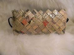 ECOIST Handbag Clutch Purse Fair Trade Eco Friendly Recycled Newspaper Pattern #Handmade #Clutch
