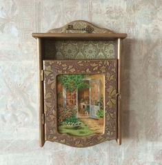 Brown Key Box Wall Key Cabinet Wooden Wall Key Box Rustic Etsy Gold Wall Decor Key Cabinet Rustic Walls